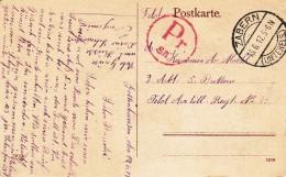 """Carte Postale De Saverne Avec TàD ZABERN (UNTERELS) Du 13.6.17 Avec Censure """"Pr / SB"""" Rouge - Marcophilie (Lettres)"""