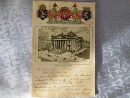 BRUXELLES CARTE 1900 . LA BOURSE . CARTE GAUFFREE - Altri