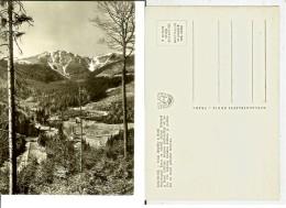 Krkonose: Dolnì Mìsesky A Kotel..... Postcard B/w Cm 10,5/14,5 - Slovacchia