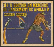 Gabon - Bloc Feuillet N°Mi. 18 - Apollo 14 - Neuf Luxe ** - MNH - Postfrisch - Space