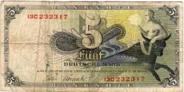 BILLET DE 5 Marks FUNF Mark Du 9.12.1948 - [ 5] 1945-1949 : Occupation Des Alliés