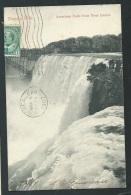 Niagara Falls -   American Falls From Goat Island   ( Defectueuse En Bas )   - Obf0178 - Canada