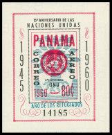 Panama, 1961, World Refugee Year, MNH Imperforated Sheet, Michel Block 10 - Panama