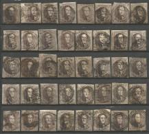 Belgique - Médaillons - 10 Cts Brun - Collection De 40 Exemplaires - Belgique