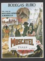 Etiquette De Moscatel  -  Bodegas Rubio  -   Femmes Espagne -  Distilérias Espronceda Almendralejo - Parejas