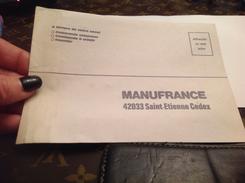 Manufrance Saint Étienne Enveloppe - Advertising