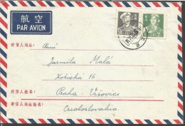 AIR MAIL COUVER PEKING TO PRAHA 1957