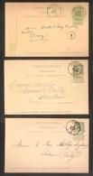 3 Postkaarten Wapenschild Allen Met Stempel CINEY ; Staat Zie Scan ! Inzet 1 € ! - 1893-1907 Wappen