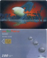 Telefonkarte Bulgarien - BulFon - Weltall - 100 Units - 12/02 - Aufl. 40000 - Bulgarien