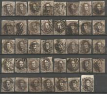 Belgique - Médaillons - 10 Cts Brun - Collection De 39 Exemplaires - Belgique