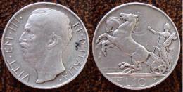 (J) ITALY: Silver 10 Lires 1927R XF (2591) SALE!!!!!! - 1861-1946 : Royaume
