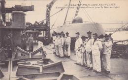 Cpa-militaria-marine Militaire Francaise- -exercice A Bord-edi Guende - Manovre