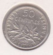 F190-4 50 CENTIMES SEMEUSE 1898 - G. 50 Centimes