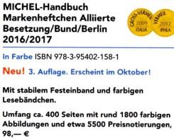 Michel Handbuch Markenhefte All.Post BRD Berlin 2017 Neu 98€ Handbook With Special Carnets Booklets Catalogue Of Germany - Coins & Banknotes