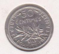 F190-20 50 CENTIMES SEMEUSE 1913 - G. 50 Centimes