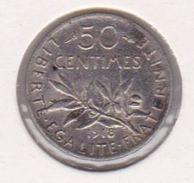 F190-25 50 CENTIMES SEMEUSE 1918 - G. 50 Centimes
