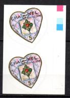 1/ France Variete Paire Coeur Chanel Piquage à Cheval : N° 38  Neuf  XX MNH  , Cote : 400,00 € - Variétés Et Curiosités