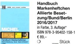 Handbuch Michel Markenhefte All.Post BRD Berlin 2017 Neu 98€ Handbook With Special Carnets Booklets Catalogue Of Germany - Speciale Uitgaven