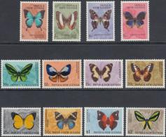 Papua New Guinea 1966 Definitive Stamps: Butterflies. Mi 83-94 MNH - Papouasie-Nouvelle-Guinée