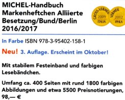 Michel Handbuch Markenhefte All.Post BRD Berlin 2017 Neu 98€ Handbook With Special Carnets Booklets Catalogue Of Germany - Telefonkarten