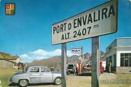 Andorre ,  PORT D ENVALIRA , Renault DAUPHINE  Et  Chevrolet Impala Cabriolet - Passenger Cars