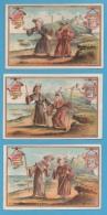 CHROMOS - Liebig, Histoire Des Deux Pèlerins  Dimensions 7,2 X 11cm Environ - Liebig