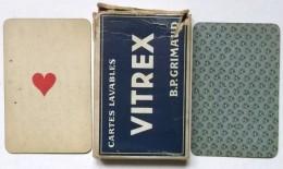 ANCIEN JEU DE 32 CARTES LAVABLES A JOUER VITREX B.P. GRIMAUD - 32 Cartes