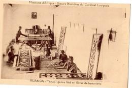 RUANDA TRAVAIL GENRE FILET EN FIBRES DE BANANIERS - Ruanda-Urundi