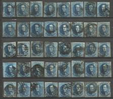 Belgique - Médaillons - 20 Cts Bleu - Collection De 40 Exemplaires - Belgique