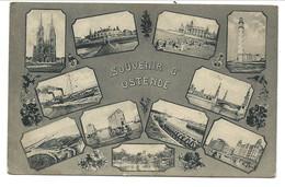 +++ CPA - OOSTENDE - Souvenir D' OSTENDE - Carte Fantaisie - Multivues  // - Oostende
