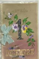 Theme Fete Cpa Prenom Saint Eloi 1 Er Decembre  Pensées Fleurs Ruban Systeme - Fêtes - Voeux