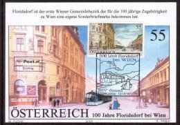 JP47     ÖSTERREICH /AUSTRIA 2004 - Maxicard - 100. Jahre Floridsdorf Bei Wien - Treni