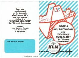 Ancienne Publicité Avion. KLM. Illustrateur. Boutiques Hors Taxes De L'Aéroport D'Amsterdam. - Publicités