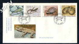Cyprus FDC 1992 Cyprus Serpents - Lettres & Documents