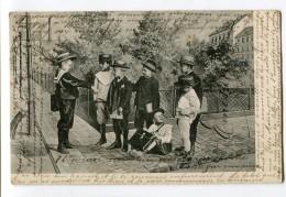 Réf 199 - LUXEMBOURG - Carte PIONNIERE Oblitérée à Luxembourg (1903) - Groupe D´enfants (joli Plan - Scan Du Verso) - Zonder Classificatie
