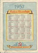 Ukraine USSR 1957  Kyiv Kiev Insurance Advertising Pocket Calendar Revolutional Holidays Calendario - Small : 1941-60