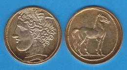 CARTAGONOVA  ESTATERA  Cartago Siglo IV A.C.  Oro  Réplica  DL-11.926 - Griegas