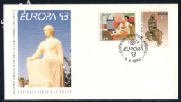Cyprus FDC 1993 Europa CEPT - Lettres & Documents