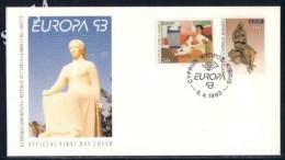 Cyprus FDC 1993 Europa CEPT - Chypre (République)