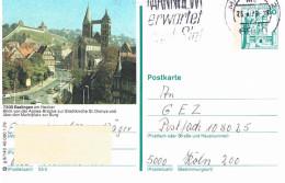 Deutschland Bildpostkarte Esslingen Neckar; Agnes - Brücke; Stadtkirche; Burg - Bildpostkarten - Gebraucht