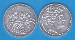 HISPANIA  Denario Kese (Tarragona) Inicio Siglo II A.C. Plata Réplica   T-DL-11.929 - Antiguas