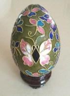 OEUF DECORATIF EMAILLE CLOISONNE - Décor Floral - Eggs