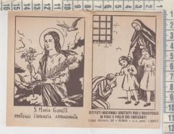 Calendarietto Calendario 1954 S. Maria Goretti - Petit Format : 1941-60
