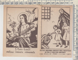 Calendarietto Calendario 1954 S. Maria Goretti - Calendari