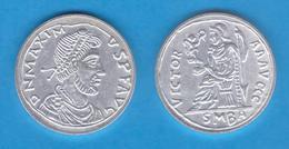 BAJO IMPERIO  ROMANO  Maximo SILIQUA  Plata  Barcelona  Réplica   DL-11.935 - 8. El Bajo Imperio Romano (363 / 476)