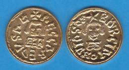 REINO VISIGODO RECEREDO I 586-601  TREMIS-Oro Barcelona Replica   DL-11.936 - Monnaies Antiques