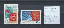 USSR Luchtpost 1962-'67 - YT LP.114+LP.123 Postfris Met Plakker/neuf Avec Charnière/MH