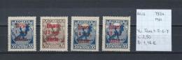 USSR 1924 - YT Taxe 1-5-6-7 Postfris Met Plakker/neuf Avec Charnière/MH