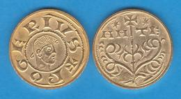 ROGER II De FOIX (1.071-1.124) MANCÚS - Oro - Agramunt (Lleida) Replica  DL-11.942 - Otras Piezas Antiguas