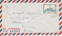 Peru Air Mail Cover Sent To Denmark Single Franked - Peru